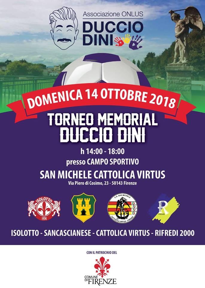 Domenica 14 ottobre un pomeriggio per ricordare Duccio!