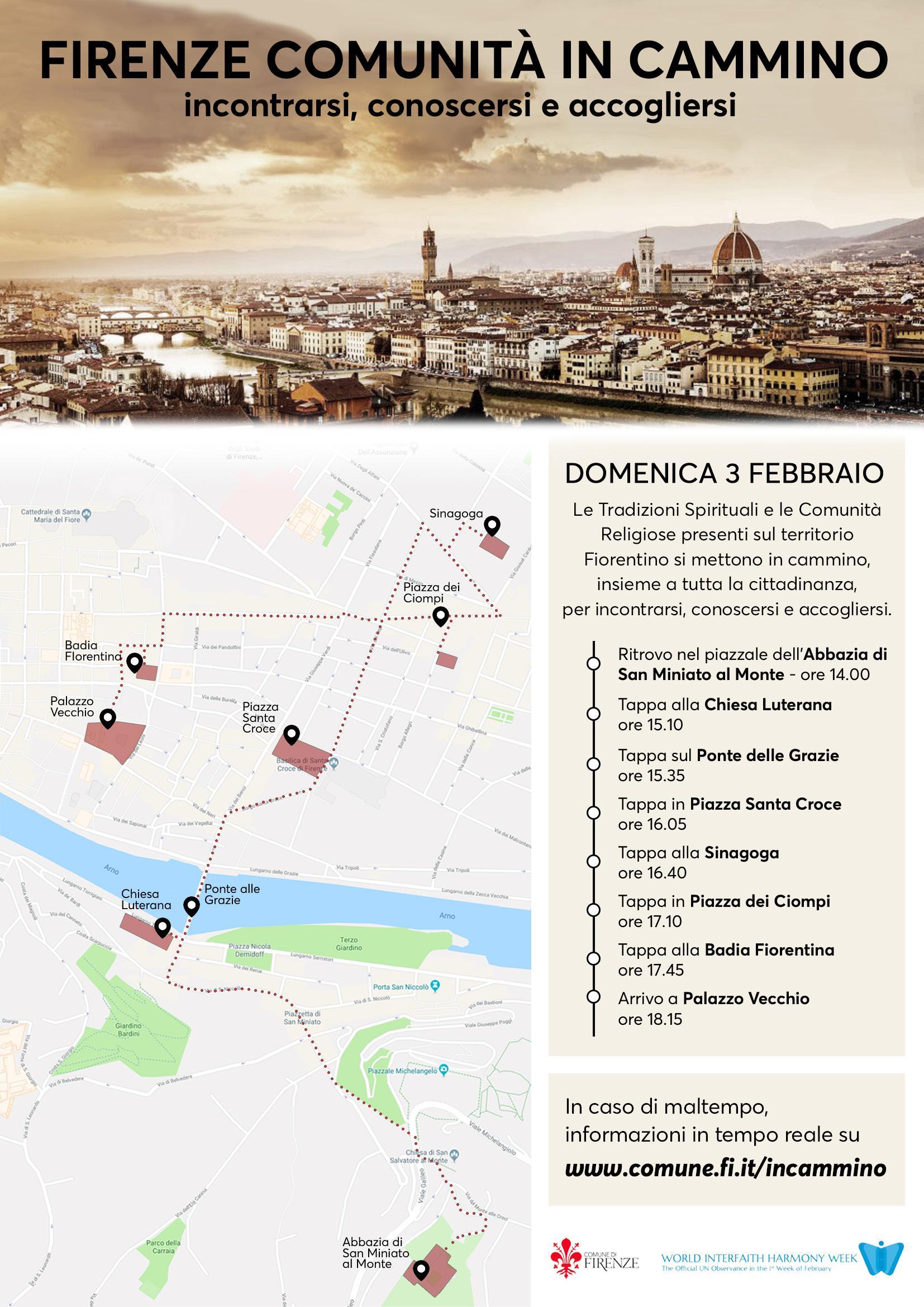 """Domenica 3 febbraio """"Firenze Comunità in cammino"""""""