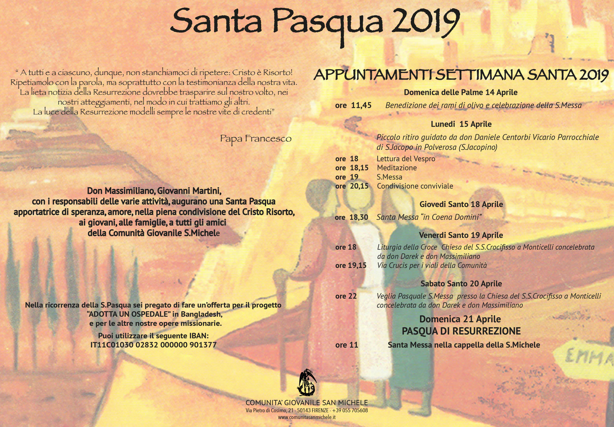 Gli appuntamenti della Santa Pasqua 2019