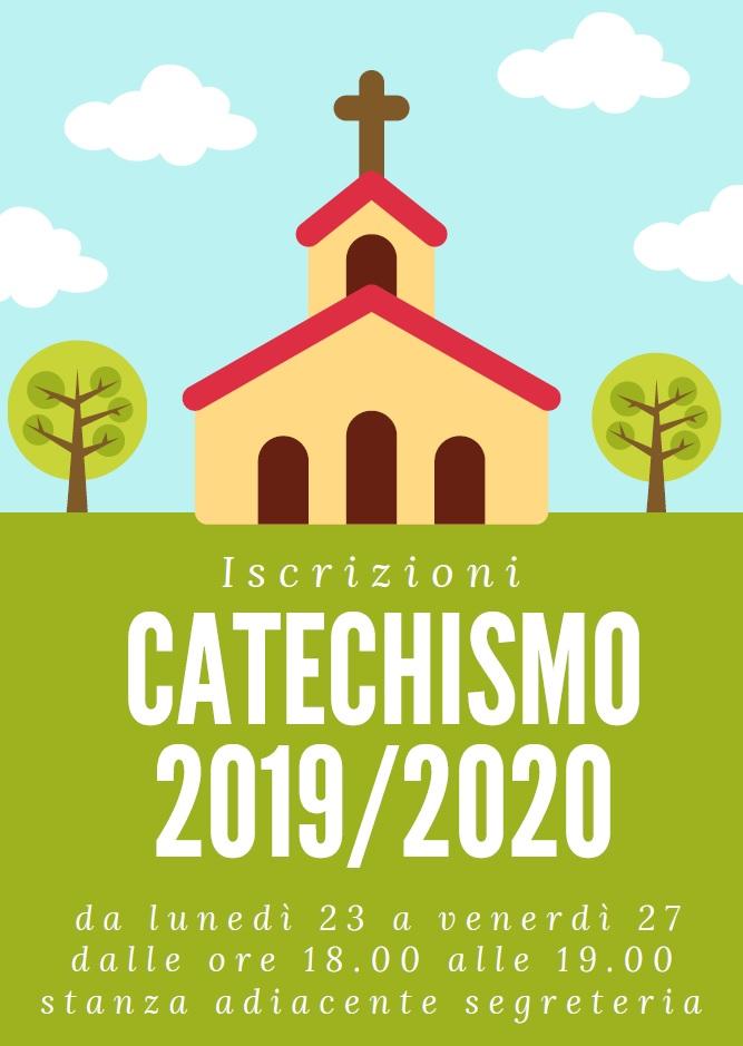 Aperte le iscrizioni all'anno catestichistico 2019-2020