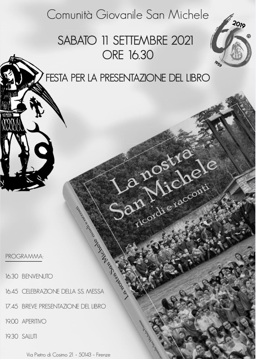 """Sabato 11 settembre la presentazione del libro """"La nostra San Michele. Ricordi e racconti"""""""